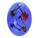 Bubbly Guitars Oval Ornament