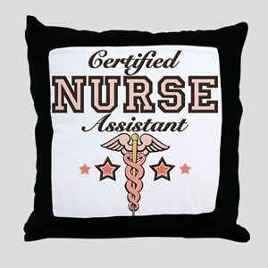 Certified Nurse Assistant Throw Pillow