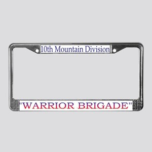 10th Mount Div 1BCT License Plate Frame