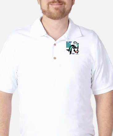 Navy MMS Golf Shirt
