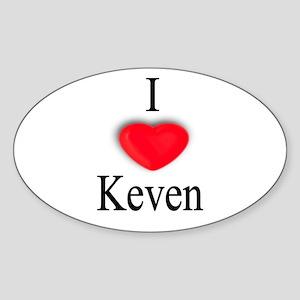 Keven Oval Sticker