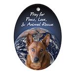 Animal Rescue Ornament (Oval)