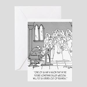 eBook Cartoon 8422 Greeting Card