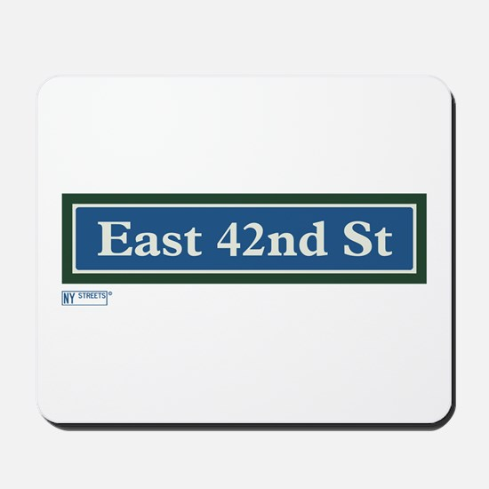 East 42nd Street in NY Mousepad
