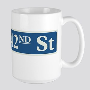 East 42nd Street in NY Large Mug