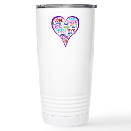 LOVERS HEART Stainless Steel Travel Mug
