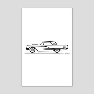 1960 Ford Thunderbird Hardtop Mini Poster Print