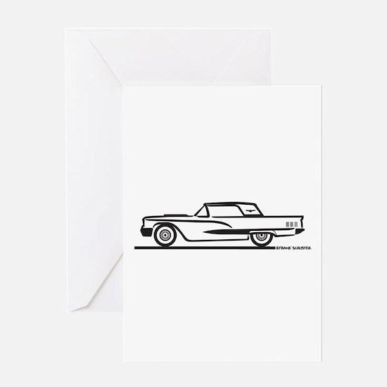 1960 Ford Thunderbird Hardtop Greeting Card