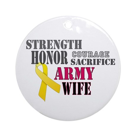 Army Wife Christmas Ornament