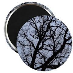 Scary Halloween Tree Magnet