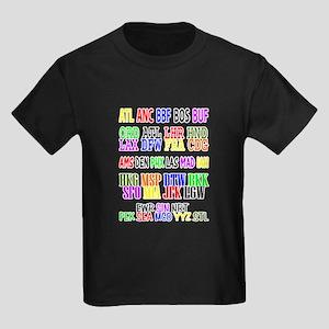 Airport Code Kids Dark T-Shirt