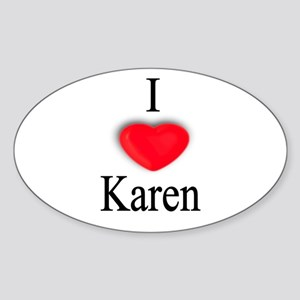 Karen Oval Sticker
