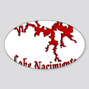 NACI (822 CRIMSON) Oval Sticker