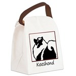 Keeshond Graphics Canvas Lunch Bag