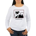 Keeshond Graphics Women's Long Sleeve T-Shirt