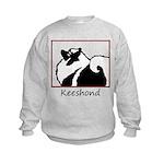 Keeshond Graphics Kids Sweatshirt