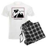 Keeshond Graphics Men's Light Pajamas