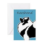 Keeshond Graphics Greeting Card