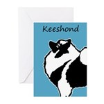 Keeshond Graphics Greeting Cards (Pk of 20)