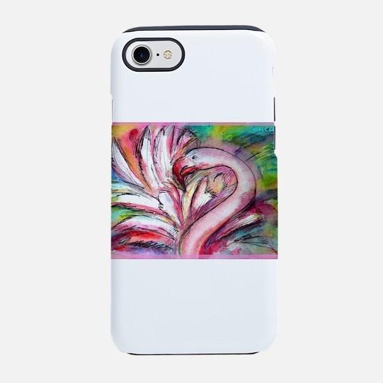 Flamingo, colorful, fun, art! iPhone 7 Tough Case