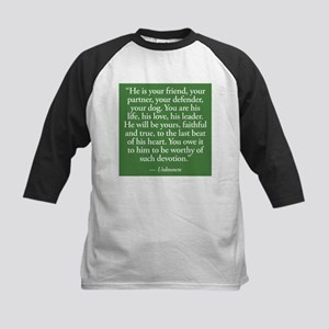Dog Devotion Kids Baseball Jersey