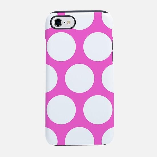 Pink Large Polka Dots iPhone 7 Tough Case