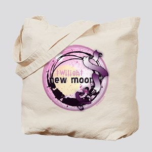 New Moon Grunge Ribbon Crest Tote Bag