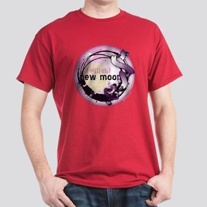 New Moon Grunge Ribbon Crest Dark T-Shirt