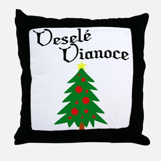Slovak Christmas Tree Throw Pillow
