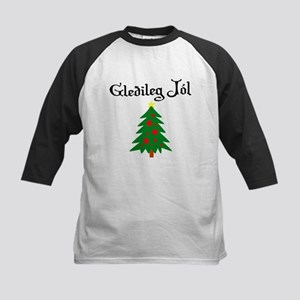 Icelandic Christmas Tree Kids Baseball Jersey
