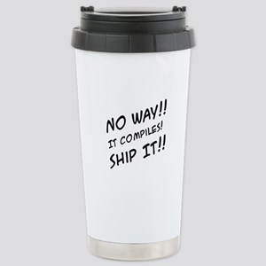 It Compiles! Stainless Steel Travel Mug