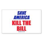 Kill The Bill Rectangle Sticker 50 pk)