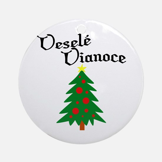 Slovak Christmas Tree Ornament (Round)