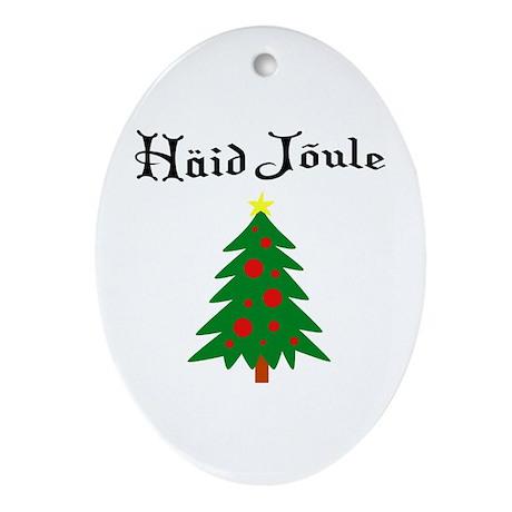 Estonian Christmas Tree Oval Ornament