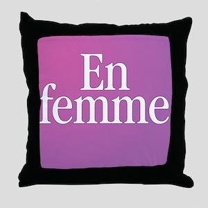 Transgender En Femme Throw Pillow