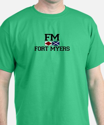 Fort Myers FL- Nautical Flags Design T-Shirt