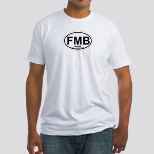 Fort Myers Beach FL - Oval Design Fitted T-Shirt