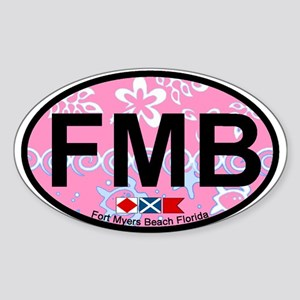 Fort Myers Beach FL - Oval Design Oval Sticker