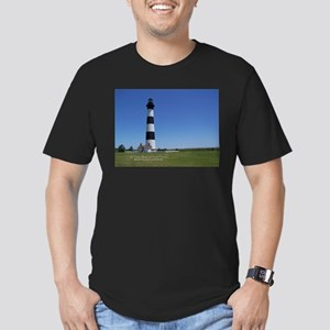 Bodie Island Lighthouse Men's Fitted T-Shirt (dark