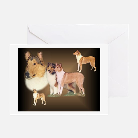 Rough and Smooth Collie Gifts Greeting Cards (Pack