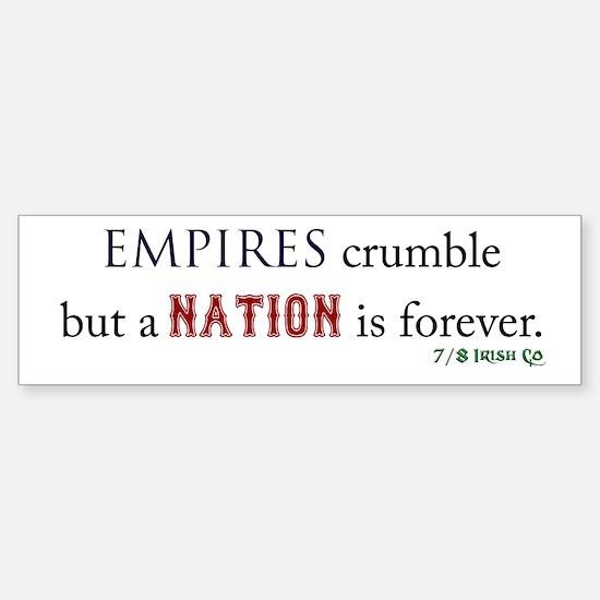 Empires Crumble Sticker (Bumper)