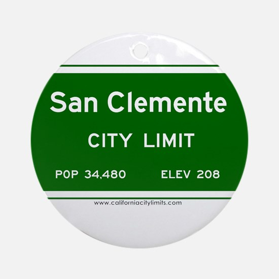 San Clemente Ornament (Round)