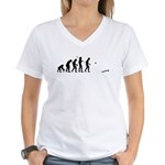 Evolution of Cornhole Women's V-Neck T-Shirt