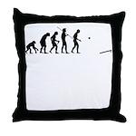 Evolution of Cornhole Throw Pillow