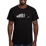 Evolution of Cornhole Men's Fitted T-Shirt (dark)