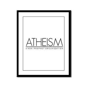 Atheism Framed Panel Print