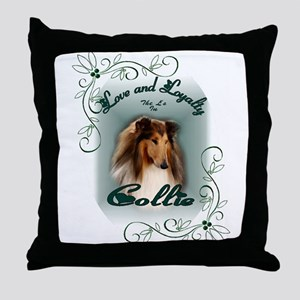 Rough Collie Gifts Throw Pillow