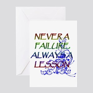 2-NEVER A FAILURE copy Greeting Cards
