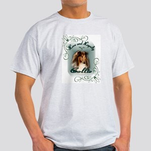 Rough Collie Gifts Ash Grey T-Shirt