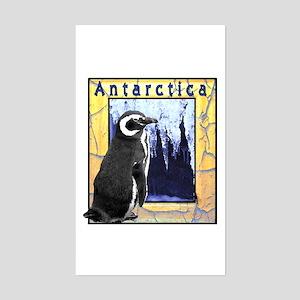 Antarctica Penguin Rectangle Sticker